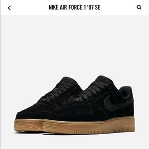 NEW Nike Air Forces - Black Suede
